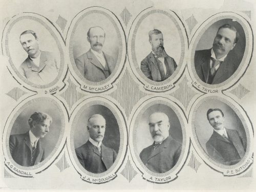 Eight portraits of early trustees