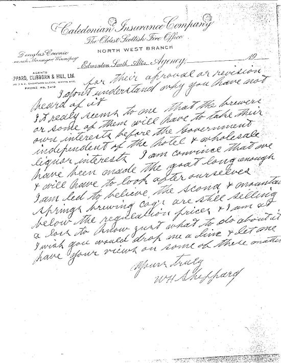 Sheppard's more concerned letter to Cross on Dec 11, 1915 (part 2)