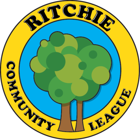 The Ritchie Community League logo - two trees with one big happy ball of leaves on top.