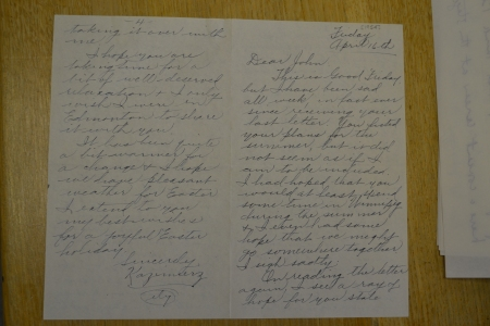 Another letter, from April 16 1954