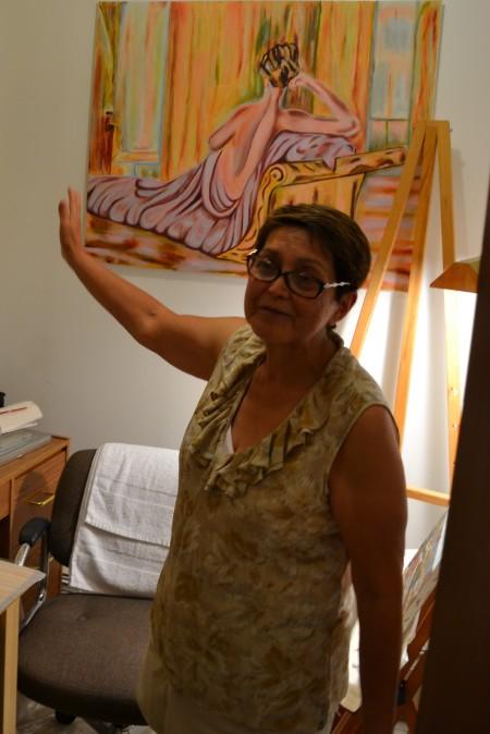 Carmen-Lida Ordoñez at home in her studio