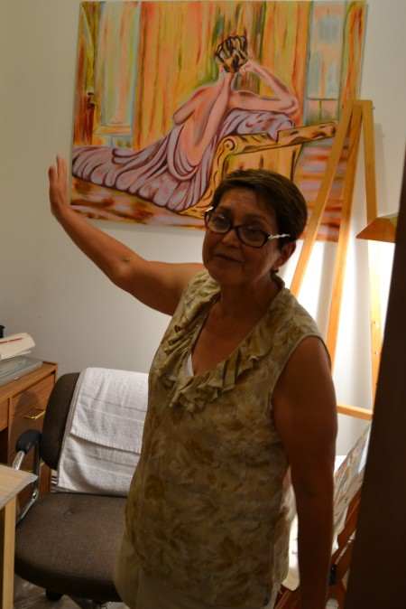 Carmen-Lida Ordoñez at home in her studio