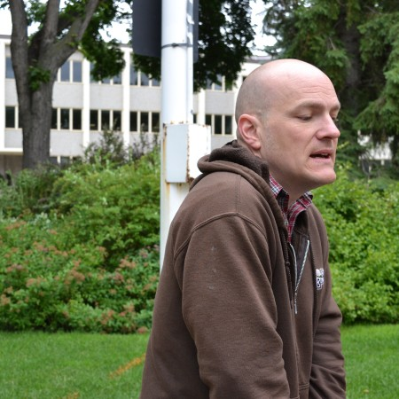 Tom Long, Fort Edmonton Park's Public Interpretation Coordinator