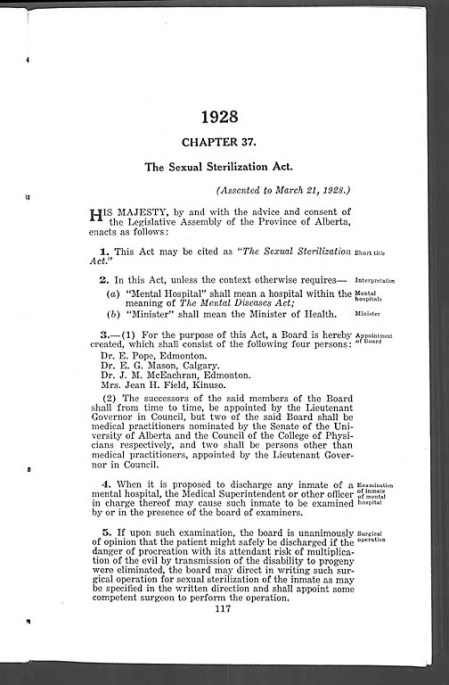 Text of The Sexual Sterilization Act
