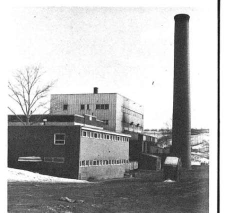 A black and white picture from The Gateway newspaper of the Mill Creek incinerator.