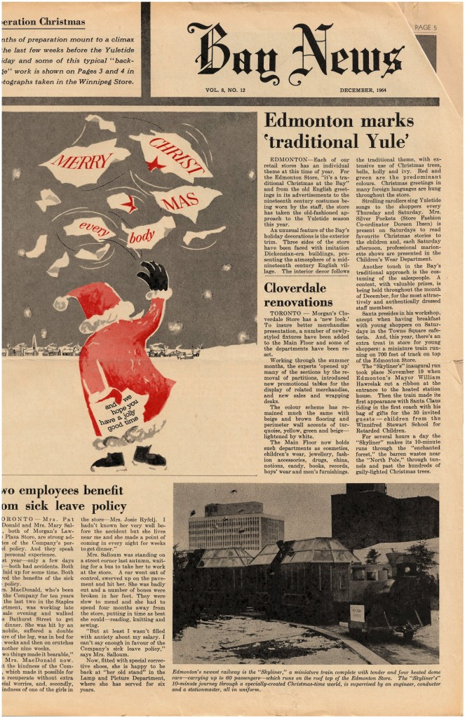 A copy of the Bay News from December 1964 tells the same story as the Edmonton Journal article.
