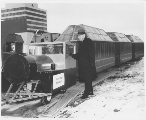 A shot of the train on the rooftop [Hudson's Bay Company Archives HBCA 1987-363-E-610 - 47]