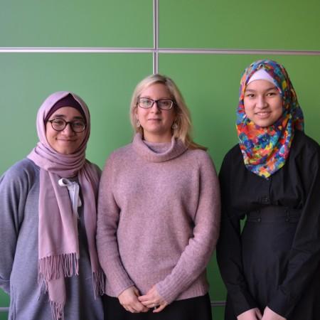 Laila Elbery, Stephanie Montesanti, and Mariam Macabanding