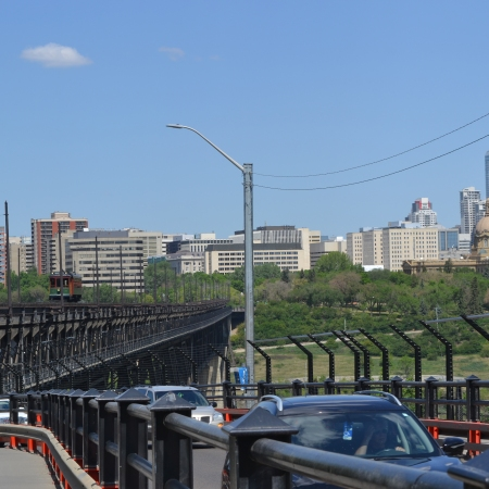 A shot of the High Level Bridge looking north, taken in 2018.