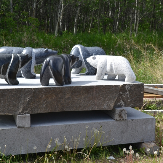 Five stone bears